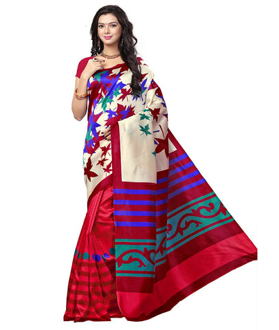 Multi Color Kalamkari Mysure Silk Saree - BGPSR85