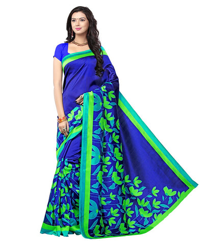 Royal Blue Color Kalamkari Mysure Silk Saree - BGPSR89