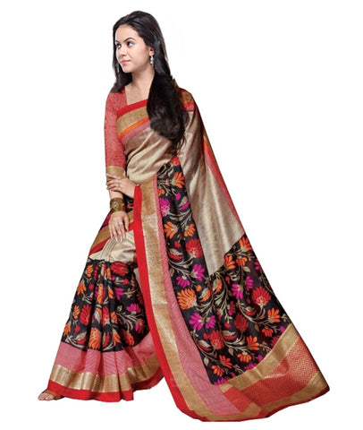 Multi Color Kalamkari Mysure Silk Saree - BGPSR99