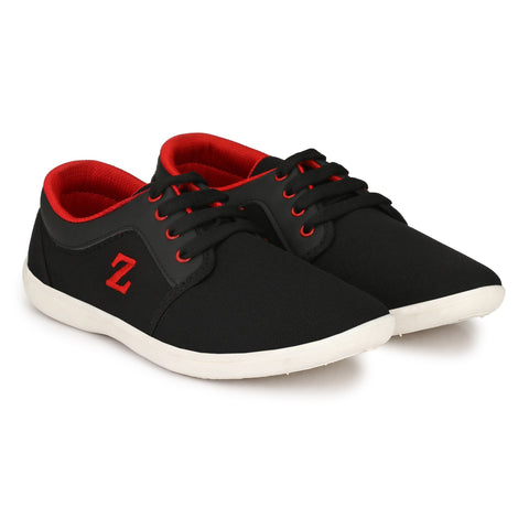 Black And Red Color Synthetic Men Shoes - BGZ-BlackRed
