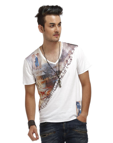 White Color Cotton Men T-Shirt - BIH-White