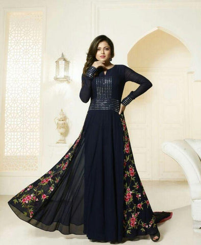 Blue Color Georgette Un Stitched Salwar - BIPO-36