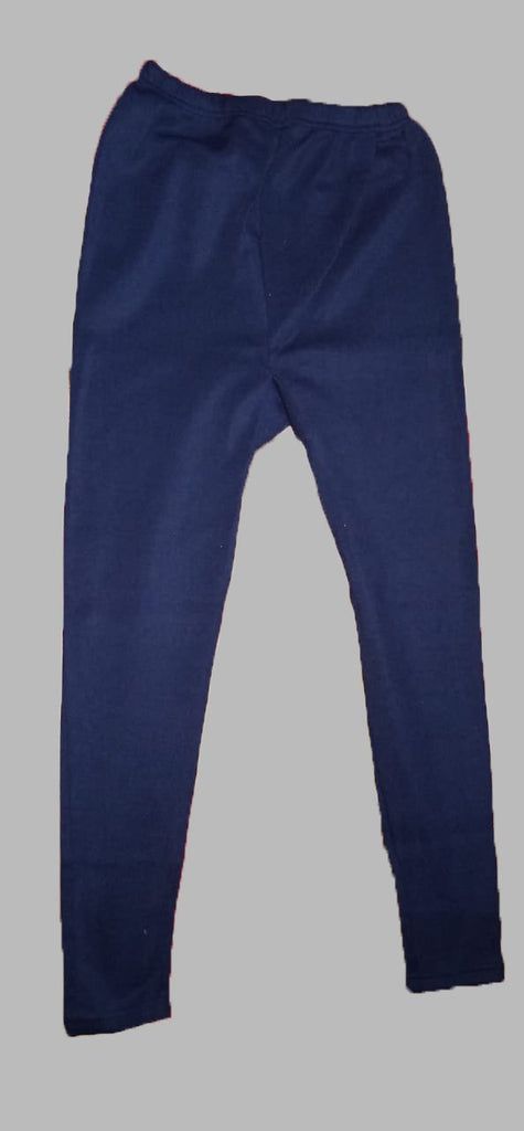 Buy Navy Blue Color Cotton Lycra Women's Casual Legging