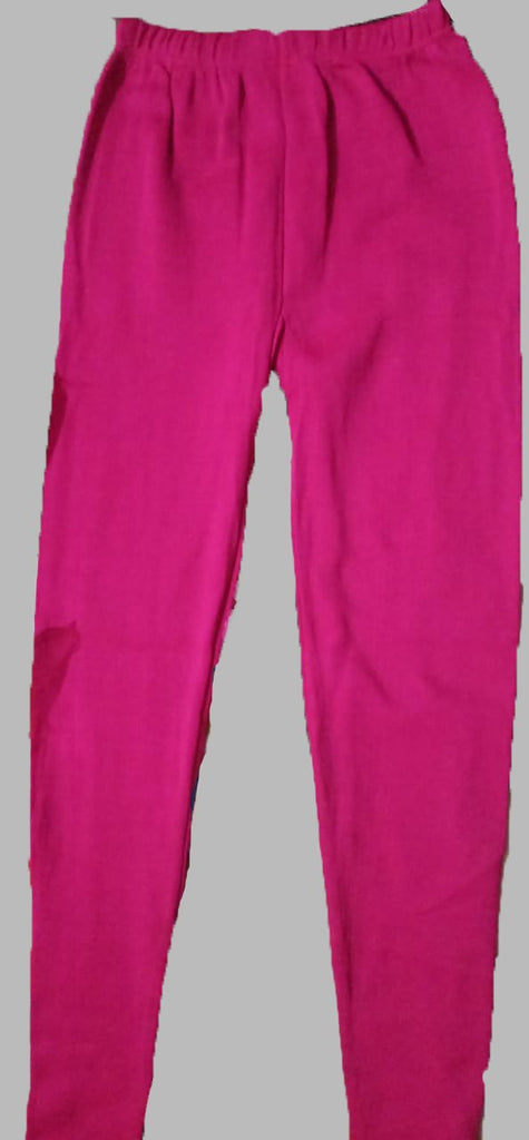 Buy Pink Color Cotton Lycra Women's Casual Legging