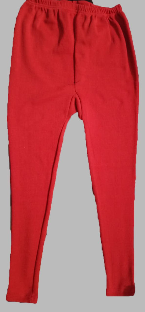 Buy Red Color Cotton Lycra Women's Casual Legging
