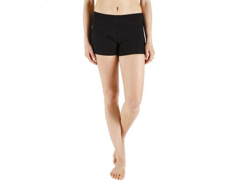 Black Color Supplex Lycra Women Short  - BLACK2-SH