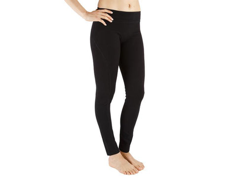 Black Color Supplex Lycra Legging - BLACK5-LG