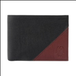 Black And Brown Color Velvet Men's Wallet - BLK-BRW-ALB