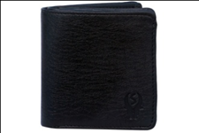 Black Color Velvet Men's Wallet - BLK-GITTAK