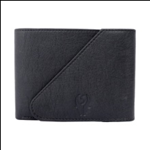 Black Color Velvet Men's Wallet - BLK-KAN