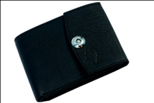 Black Color Velvet Men's Wallet - BLK-MAGNET