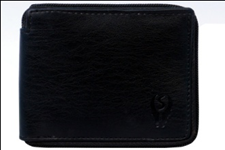 Black Color Velvet Men's Wallet - BLK-R-CHN