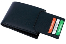 Black Color Velvet Men's Wallet - BLK-SLIDE