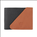 Black Color Velvet Men's Wallet - BLK-TAN-KAN