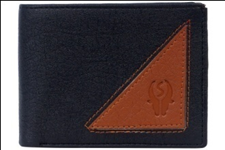Black Color Velvet Men's Wallet - BLK-TRANGLE