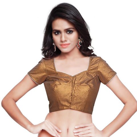 Brown Color Mattie Stitched Blouse - BLOUSE01