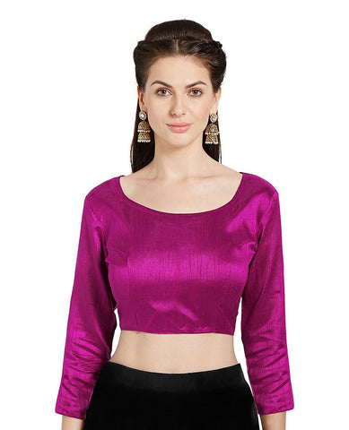 Pink Color Banglori Silk Stitched Blouse - BLOUSE04
