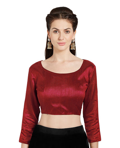 Red Color Banglori Silk Stitched Blouse - BLOUSE06