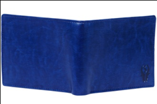 Blue Color Velvet Men's Wallet - BLUE-NET