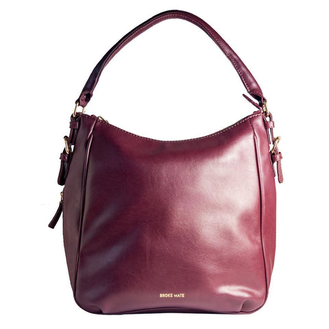 Red Color Vegan Leather Women Shoulder Bag - BM-HOBO-RED