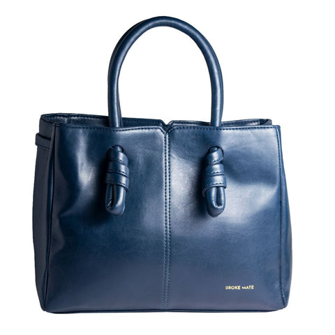 Blue Color Vegan Leather Women Hand Bag - BM-KNOT-BLUE