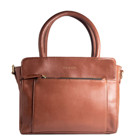 Brown Color Vegan Leather Women Hand Bag - BM-LADY-BROWN