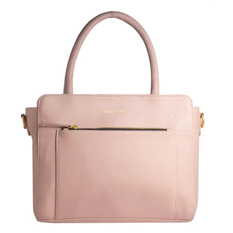 Pink Color Vegan Leather Women Hand Bag - BM-LADY-PINK