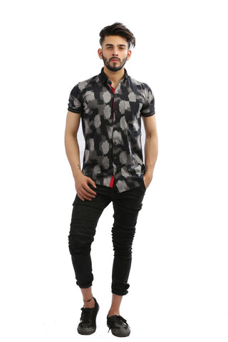 Black Color Lycra Men Shirt - BM103-black