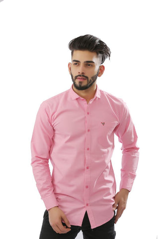 Pink Color Cotton Men Shirt - BM126-pink