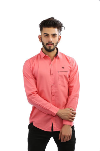 Tomoto Color Cotton Men Shirt - BM126-tomoto