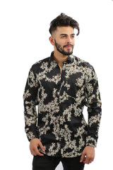 Buy Black Color Cotton Men Shirt