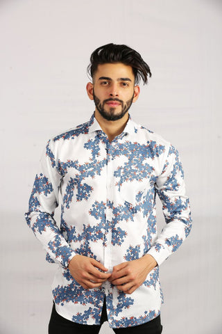 White Color Cotton Men Shirt - BM127-white