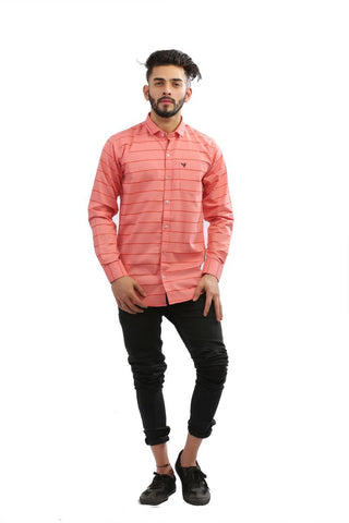 Tomoto Color Cotton brasso Men Shirt - BM135-tomoto