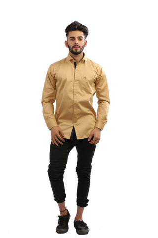 Foun Color Fine Satin Men Shirt - BM136-foun