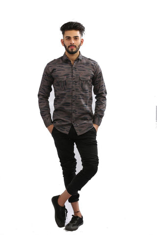 DarkGrey Color Cotton Men Shirt - BM140-darkgrey