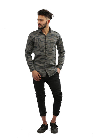 Grey Color Cotton Men Shirt - BM140-grey