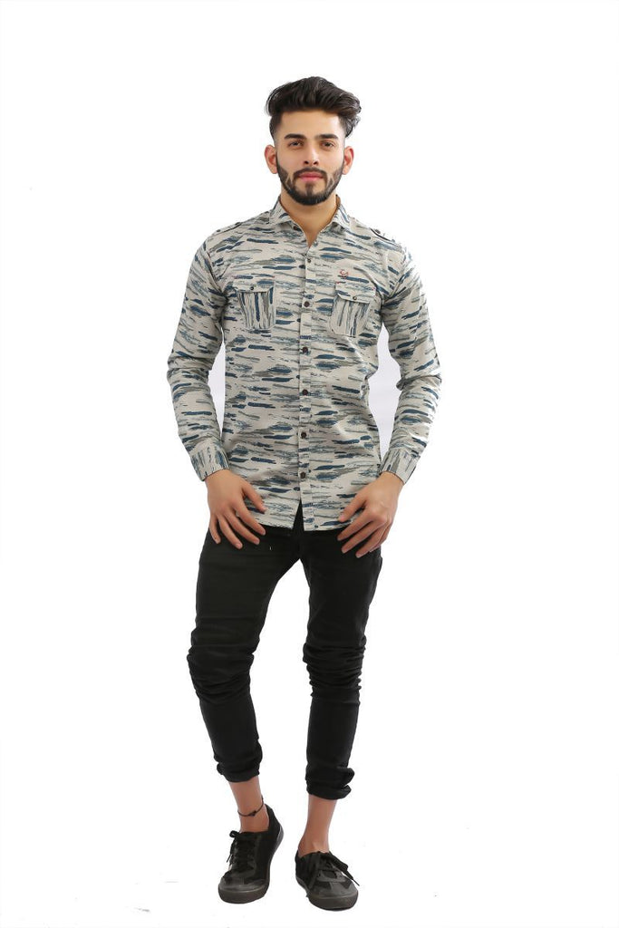 Buy SeaGreen Color Cotton Men Shirt
