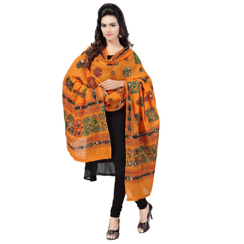 Musturd Color Cotton Dupatta - BN01