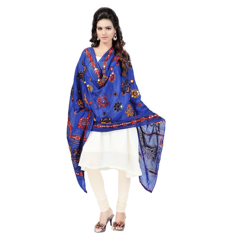 Blue Color Cotton Dupatta - BN03