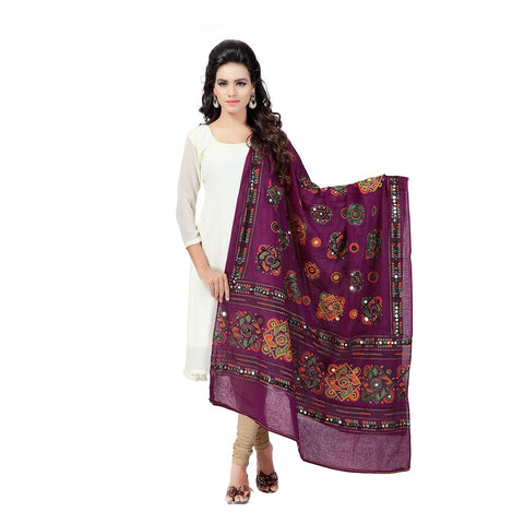 Maroon Color Cotton Dupatta - BN04