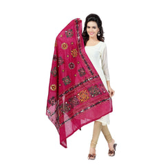 Buy Pink Color Cotton Dupatta