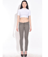 Black and Brown Color Organic Cotton and Lycra Women Jegging - BOC-PinChecker
