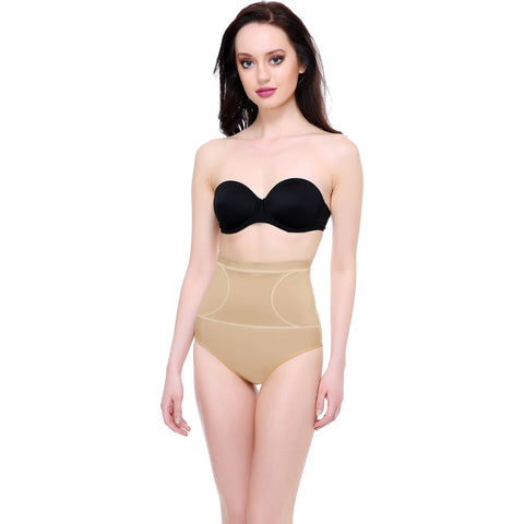 Beige Color Cotton and Lycra Tummy Shaper - BODY002