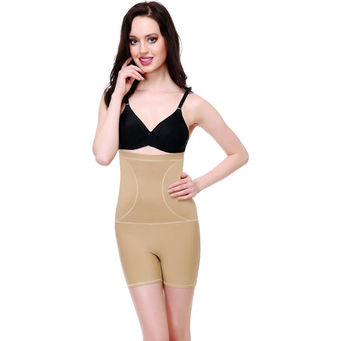 Beige Color Cotton and Lycra Tummy Shaper - BODY006