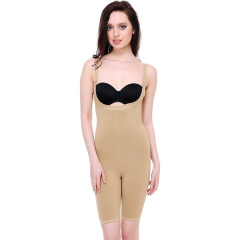 Beige Color Cotton and Lycra Tummy Shaper - BODY007