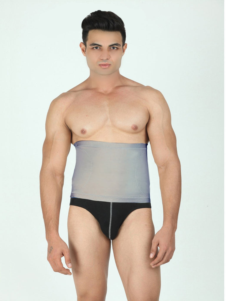 Buy Grey Color Cotton and Lycra Tummy Shaper