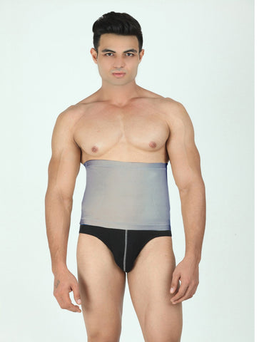 Grey Color Cotton and Lycra Tummy Shaper - BODY008