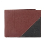 Brown Color Velvet Men's Wallet - BRW-BLK-ALB