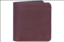 Brown Color Velvet Men's Wallet - BRW-GITTAK