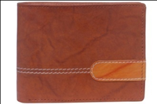 Brown Color Velvet Men's Wallet - BRW-LUP-LETHR